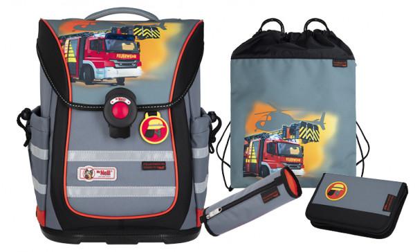 McNeill ERGO PURE FLEX Schulranzen-Set Feuerwehr 4-tlg.