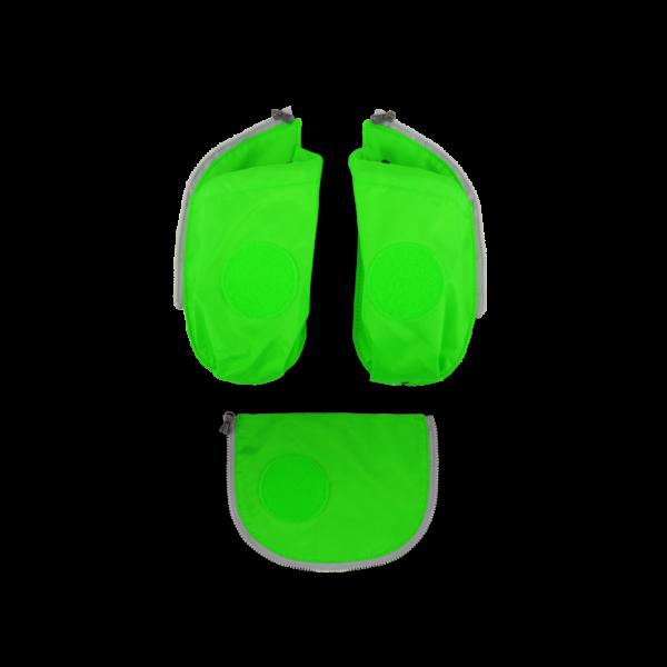 Übersicht Ergobag Cubo Seitentaschen Zip-Set Grün 3-teilig