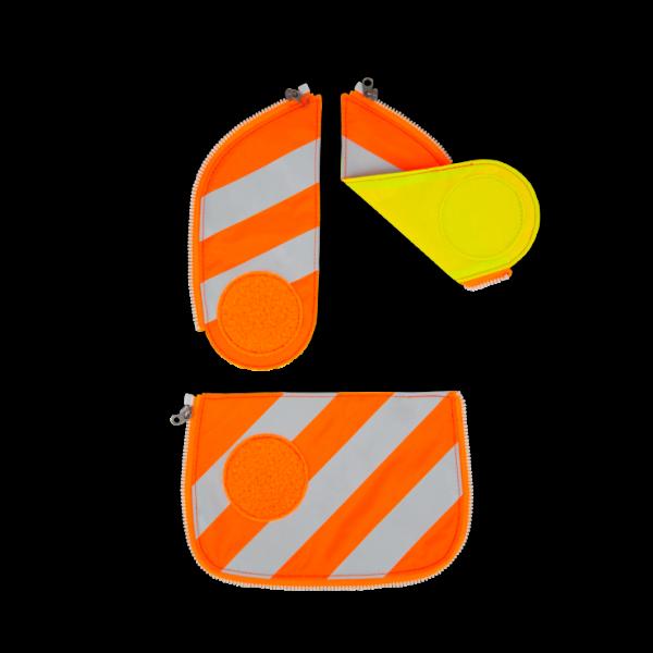 Übersicht Ergobag Pack Cubo Cubo Light Wide Sicherheits Zip-Set mit Reflektorstreifen Orange