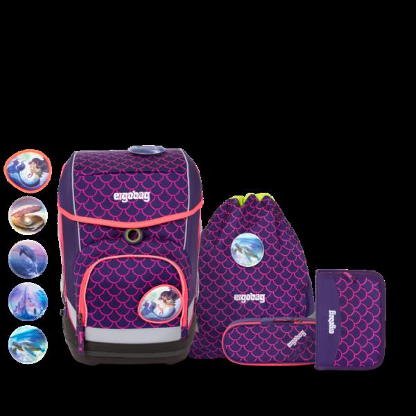 Übersicht Ergobag Cubo 5-teiliges Schulranzen-Set LUMI Edition PerlentauchBär