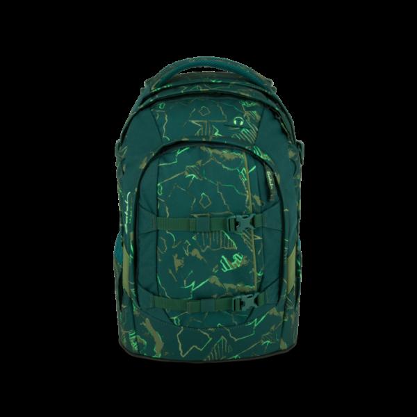 Vorderansicht Satch Pack Schulrucksack Green Compass