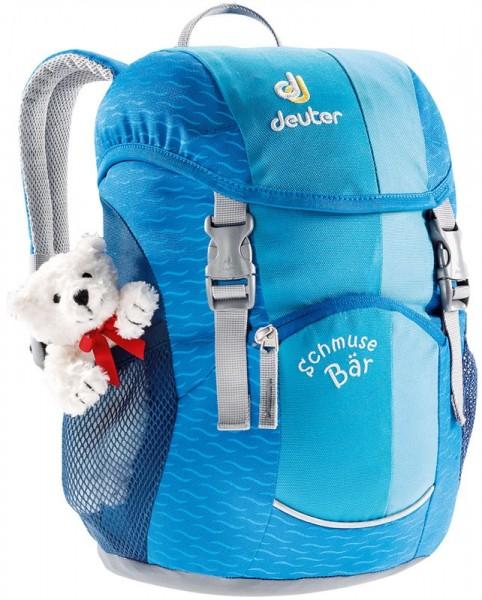 Vorderansicht Deuter Schmusebär Kinderrucksack turquoise