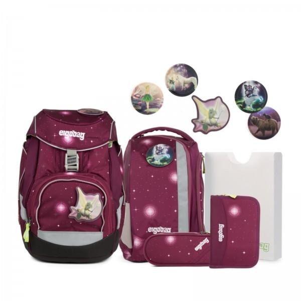 Übersicht Ergobag Pack Schulrucksack-Set FeenzauBär Galaxy GLOW 6-tlg.