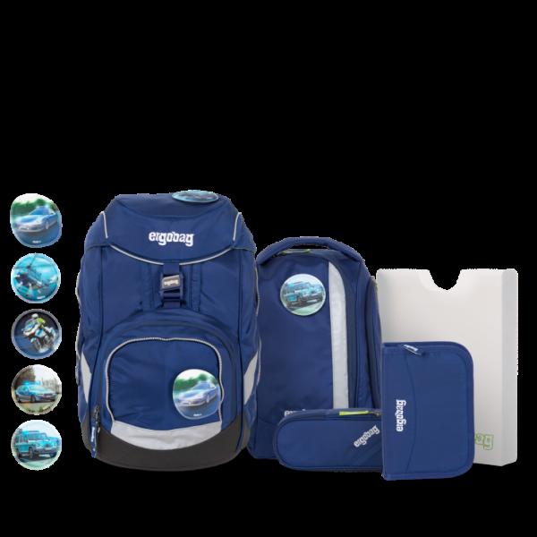 Übersicht Ergobag Pack 6-teiliges Schulrucksack-Set BlaulichtBär