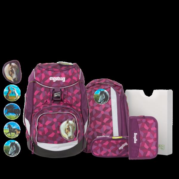 Übersicht Ergobag Pack 6-teiliges Schulrucksack-Set NachtschwärmBär