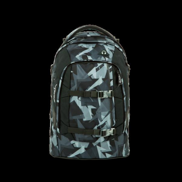Vorderansicht Satch Pack Schulrucksack Gravity Grey