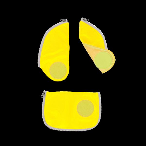 Übersicht Ergobag Pack Cubo Cubo Light Wide Sicherheits Zip-Set Gelb 3-teilig