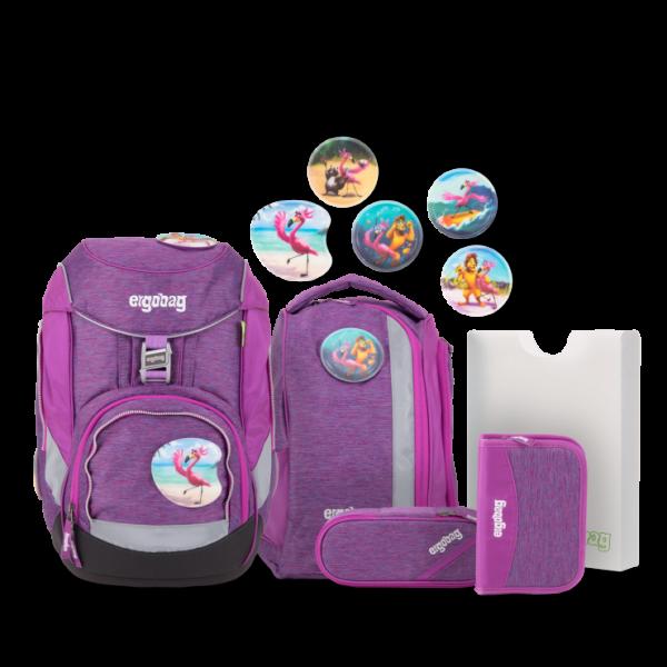 Übersicht Ergobag Pack MIXMAX Edition Schulrucksack-Set Insel HoppBär 6-teilig