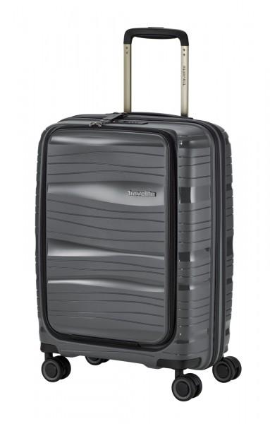 Vorderseite Travelite Motion 4-Rad Trolley S 55 cm mit Vortasche