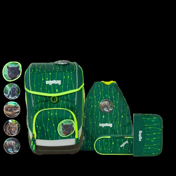 Übersicht Ergobag Cubo 5-teiliges Schulranzen-Set LUMI Edition RambazamBär