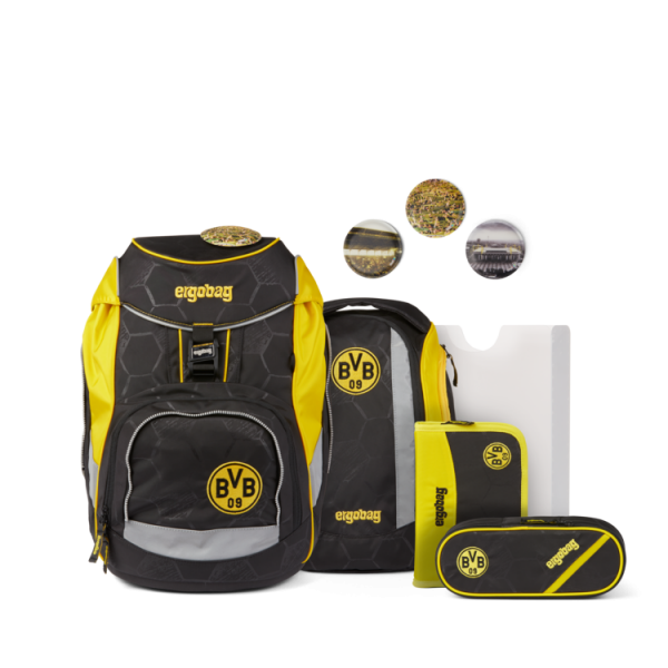 ergobag pack Schulrucksack-Set Borussia Dortmund