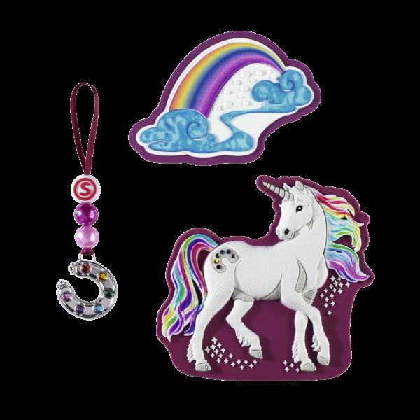 Vorderansicht Step by Step Magnetbilder MAGIC MAGS SCHLEICH Set 3-teilig Bayala, Rainbow Unicorn