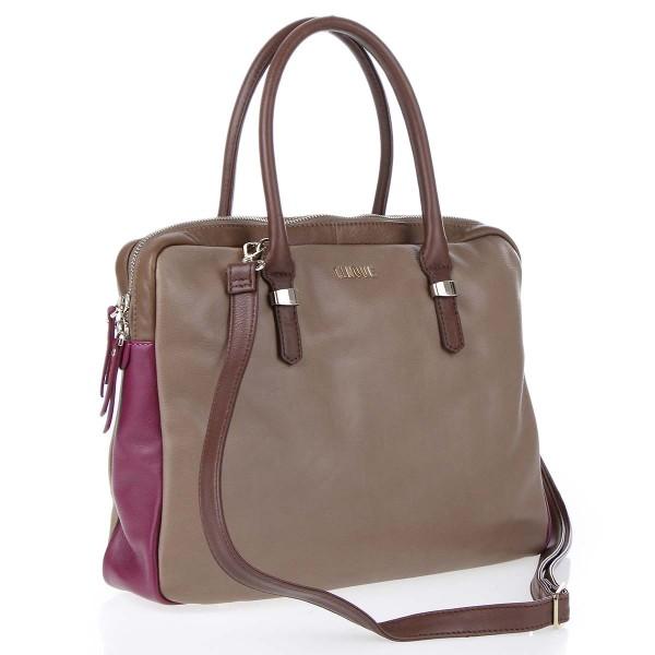 Vorderansicht Cinque Fabiola RV-Tasche mit Schulterriemen braun