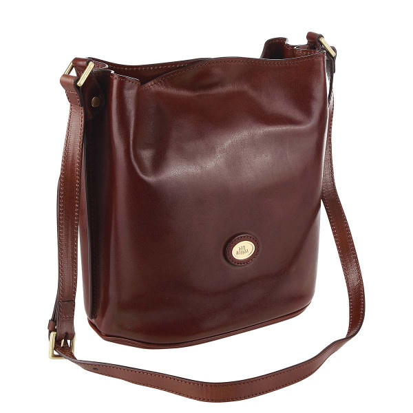 Vorderansicht The Bridge Story Donna Beuteltasche Bucket bag glattes Rindsleder