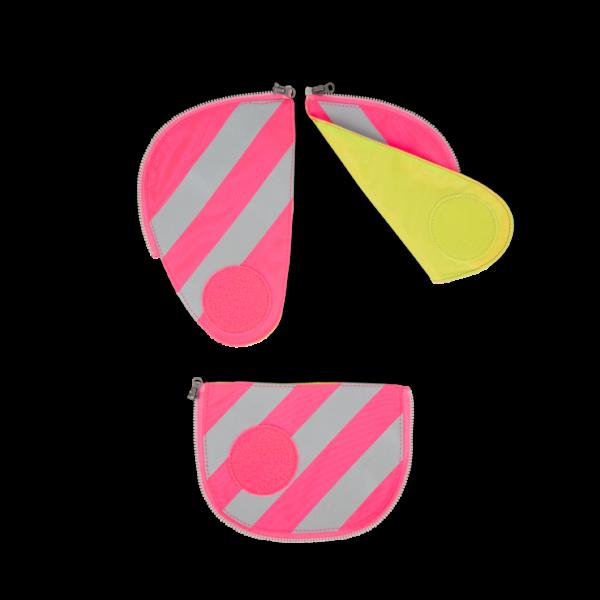 Vorderansicht Ergobag Pack Sicherheitsset mit Reflektorstreifen Pink 3-teilig