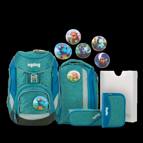 Übersicht Ergobag Pack MIXMAX Edition Schulrucksack-Set MonstBärfreunde 6-teilig