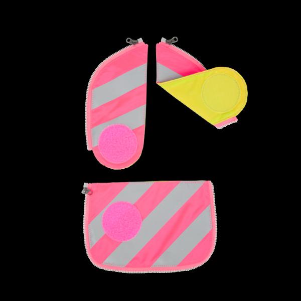 Übersicht Ergobag Pack Cubo Cubo Light Sicherheits Zip-Set mit Reflektorstreifen Pink 3-teilig